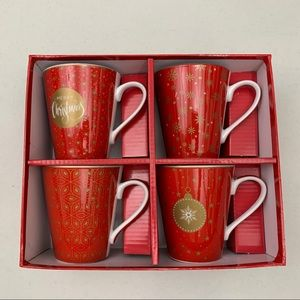 CHRISTMAS Porcelain Mugs - NEW - Set of 4